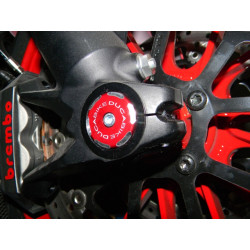 TRD03 - RIGHT FRONT WHEEL CAP BICOLOR RED
